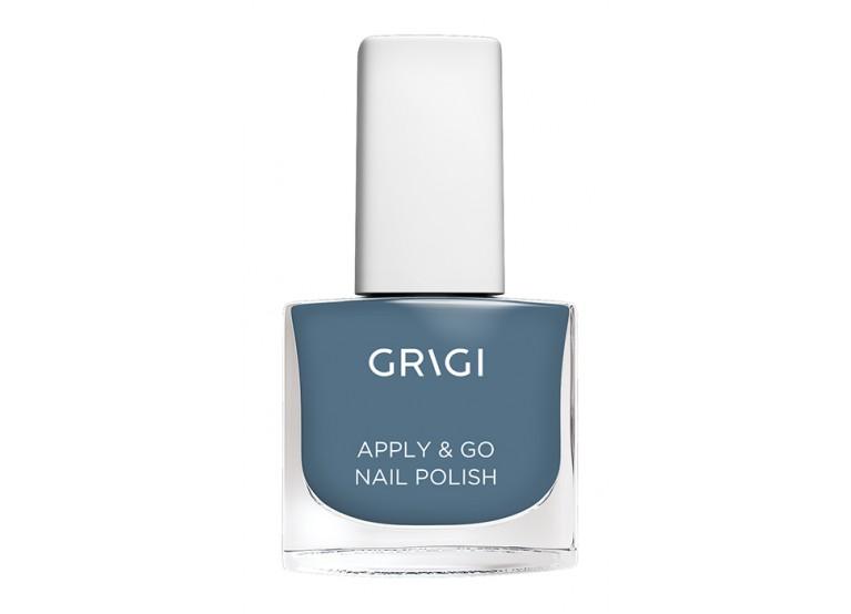 GRIGI APPLY & GO NAIL POLISH No 319 METALLIC STEEL BLUE
