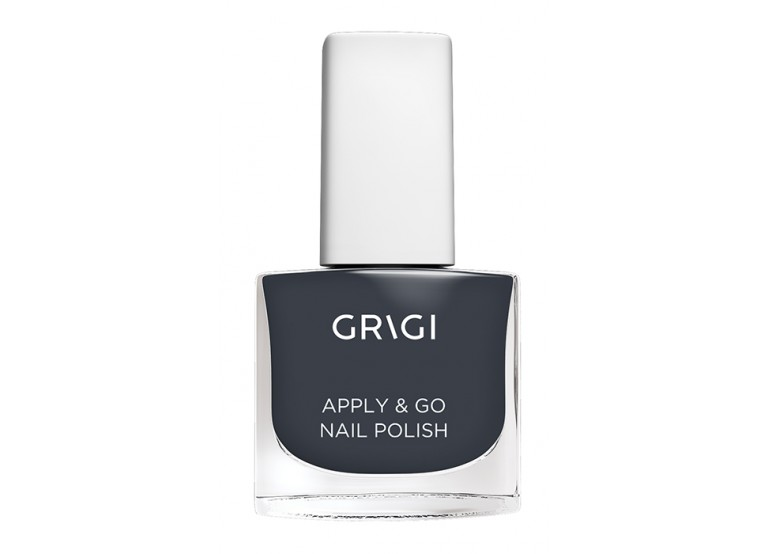 GRIGI APPLY & GO NAIL POLISH No 325 METALLIC DARK GREY