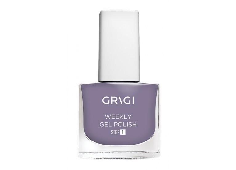 GRIGI WEEKLY GEL NAIL POLISH No 543 LIGHT GREY PURPLE