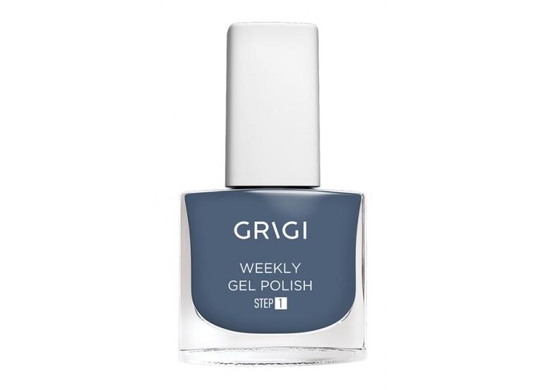 GRIGI WEEKLY GEL NAIL POLISH No 555 DARK STEEL BLUE