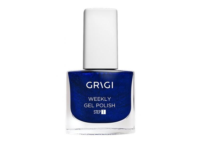 GRIGI WEEKLY GEL NAIL POLISH No 557 METALLIC DARK BLUE