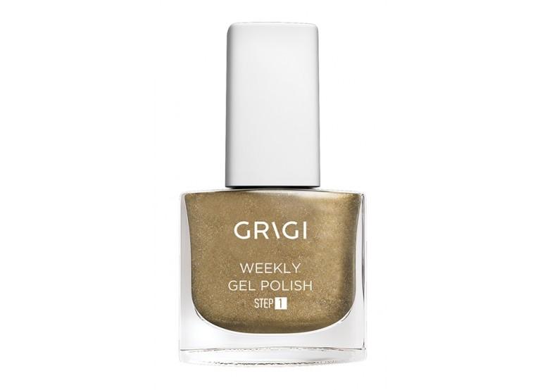 GRIGI WEEKLY GEL NAIL POLISH No 561 METALLIC GOLD